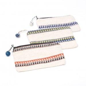 ルー族刺繍の小物ポーチ