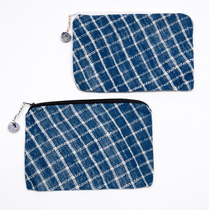 ラオス ルー族手織りの長方形ポーチ Type.4