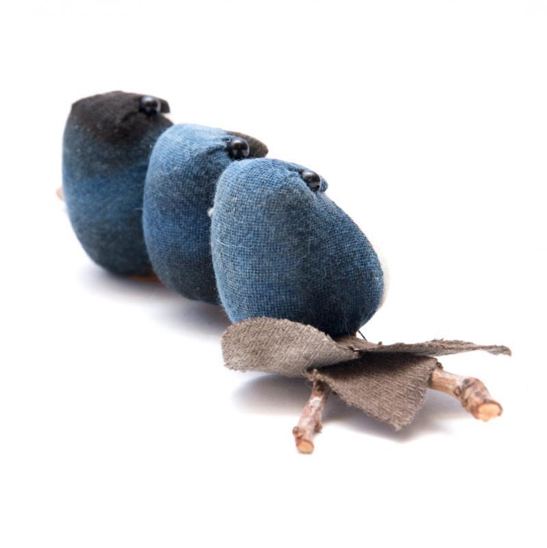 画像2:藍染フクロウ