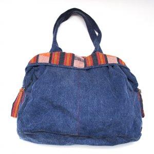 THANGEN ナガ族手織り布のデニムショルダーバッグ Type.3