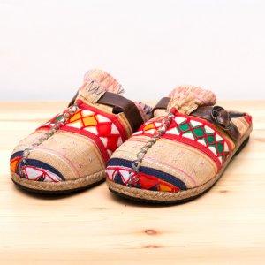 アカ族刺繍のサボサンダル Type.3