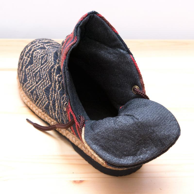 画像3:ナガ族刺繍のハイカットブーツ(レディース)