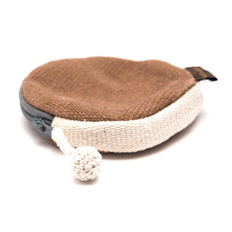 <フェアトレード>WSDO 手織布の草木染めコインケース