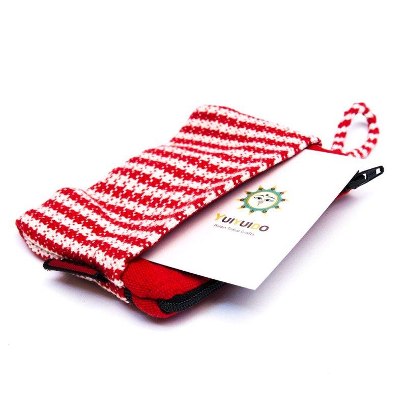 画像3:<フェアトレード>WSDO 手織布の3ポケットカードケース