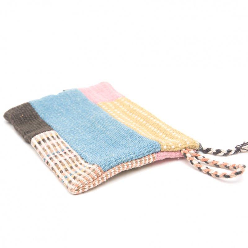 画像3:<フェアトレード>WSDO 手織布の草木染めパッチワークポーチS