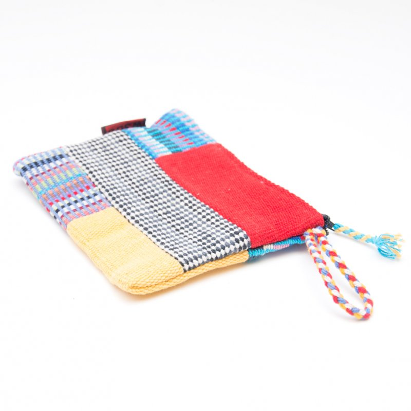 画像3:<フェアトレード>WSDO 手織布のカラフルパッチワークポーチS