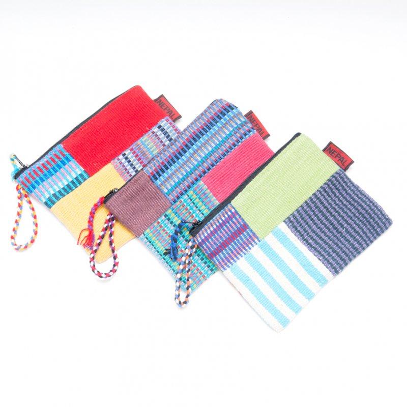 画像4:<フェアトレード>WSDO 手織布のカラフルパッチワークポーチS