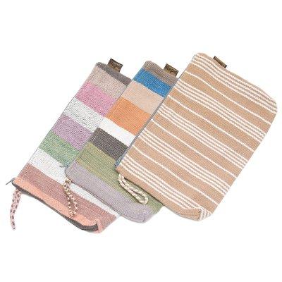 <フェアトレード>WSDO 手織布の草木染め化粧ポーチ Type.1