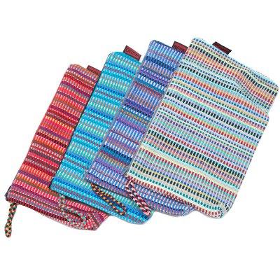 <フェアトレード>WSDO 手織布の大判化粧ポーチ Type.1