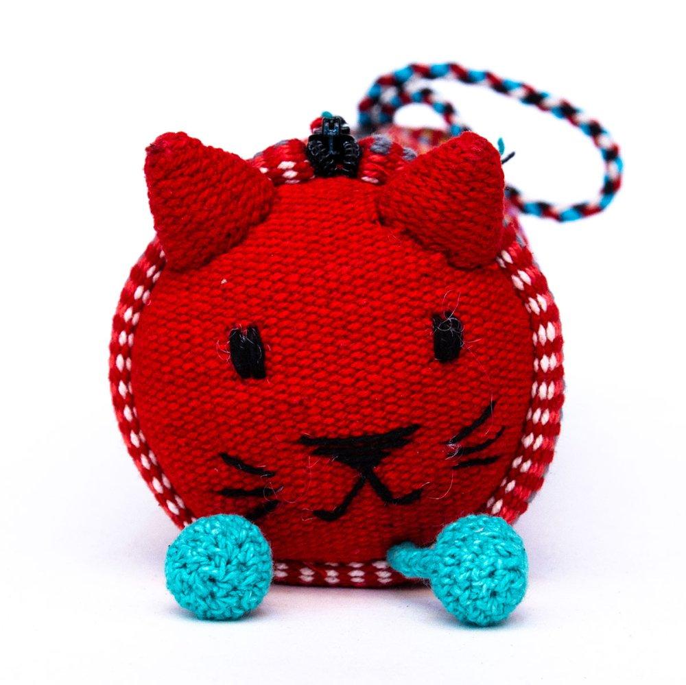 画像2:<フェアトレード>WSDO 手織布のアニマルペンケース(猫)