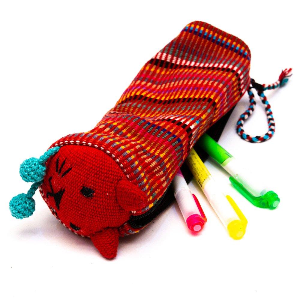 画像4:<フェアトレード>WSDO 手織布のアニマルペンケース(猫)