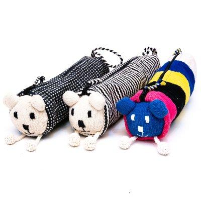 <フェアトレード>WSDO 手織布のアニマルペンケース(犬)