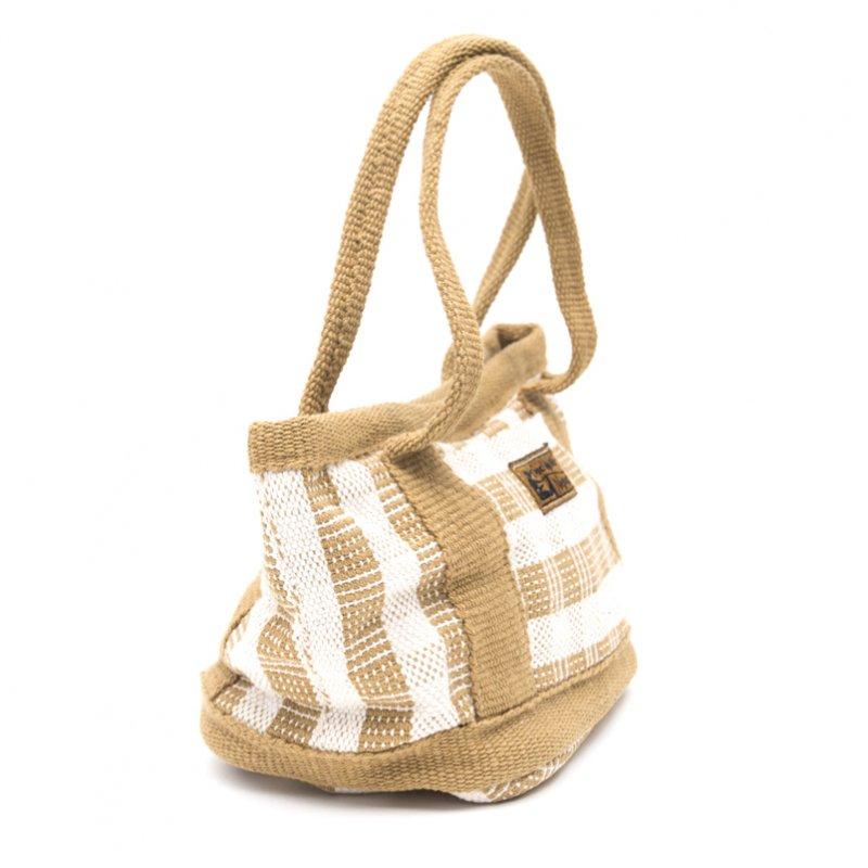 画像2:<フェアトレード>WSDO 手織布の草木染めランチバッグ(カーキ)