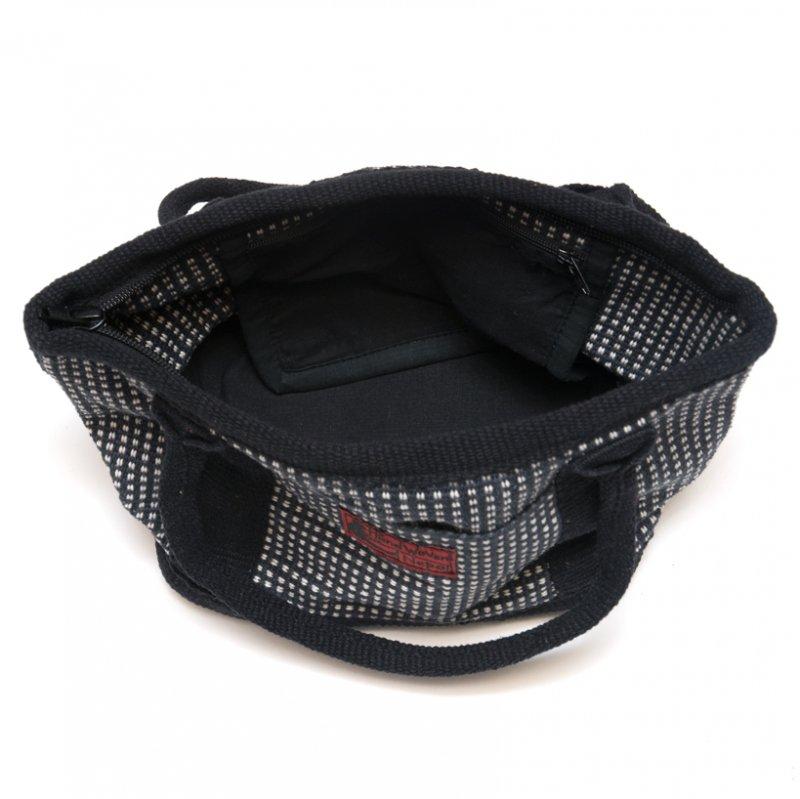 画像4:<フェアトレード>WSDO 手織布のランチバッグ(ブラックxチェック)