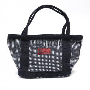 <フェアトレード>WSDO 手織布のランチバッグ(ブラック)Type.2