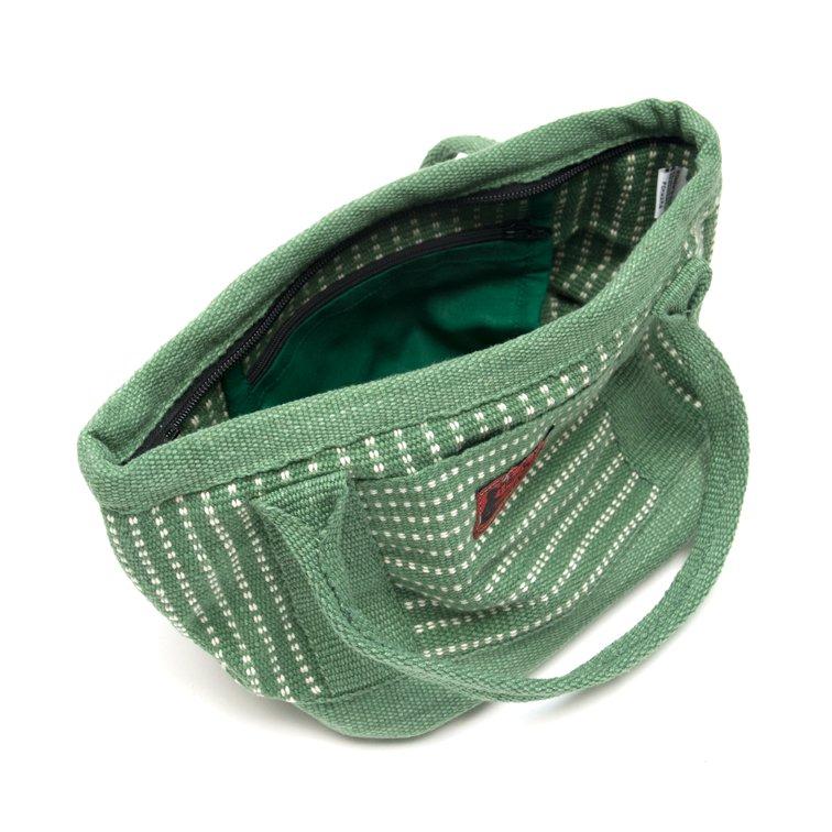 画像3:<フェアトレード>WSDO 手織布のランチバッグ(グリーン)