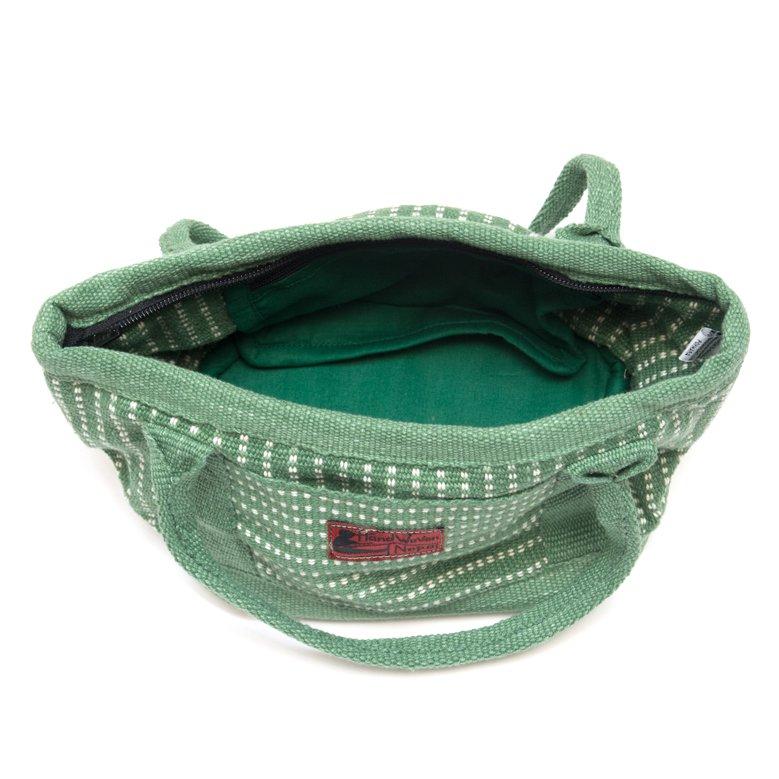 画像4:<フェアトレード>WSDO 手織布のランチバッグ(グリーン)