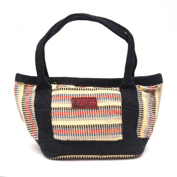 <フェアトレード>WSDO 手織布のランチバッグ(クリーム)