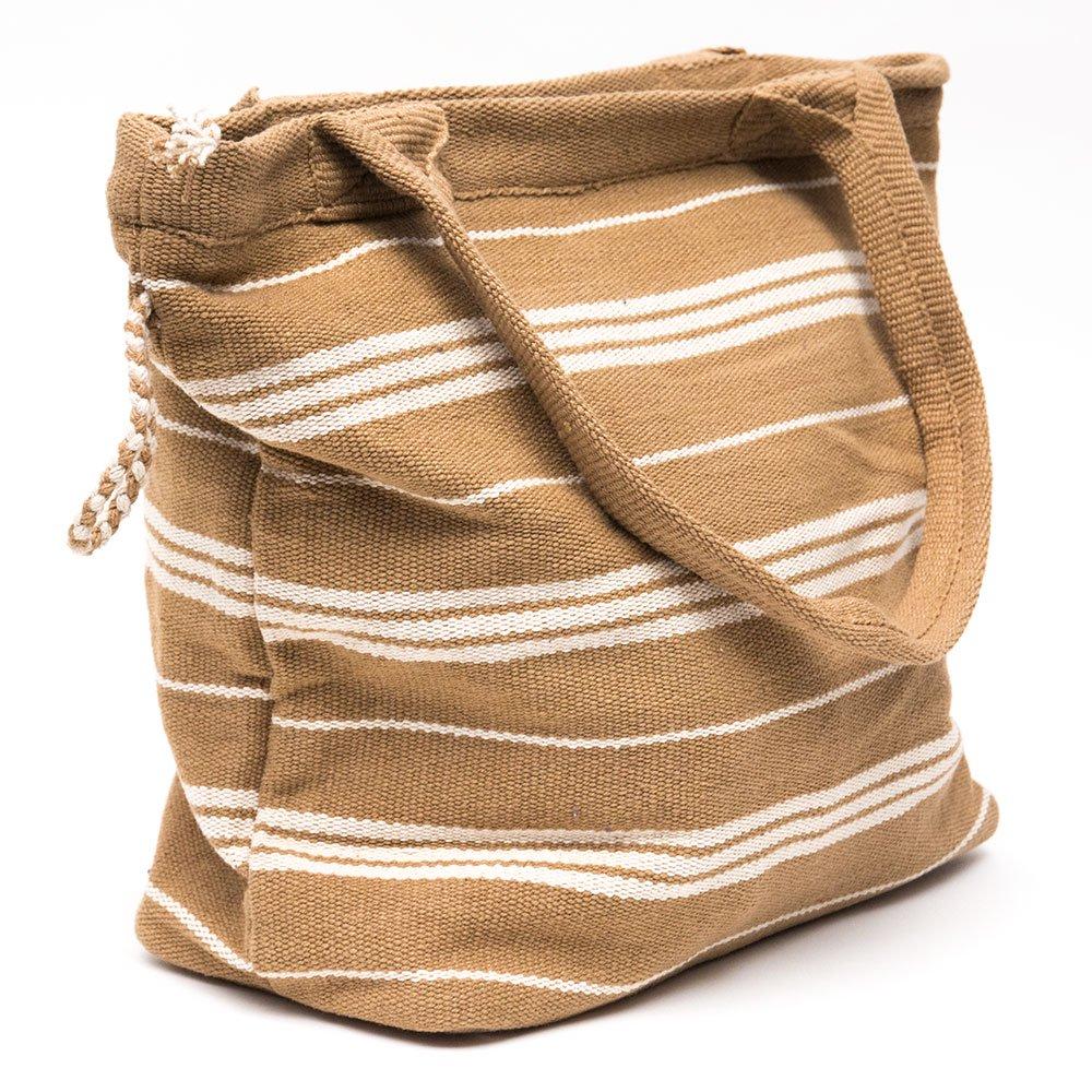 画像2:<フェアトレード>WSDO 手織布の草木染めトートバッグ(ブラウン)