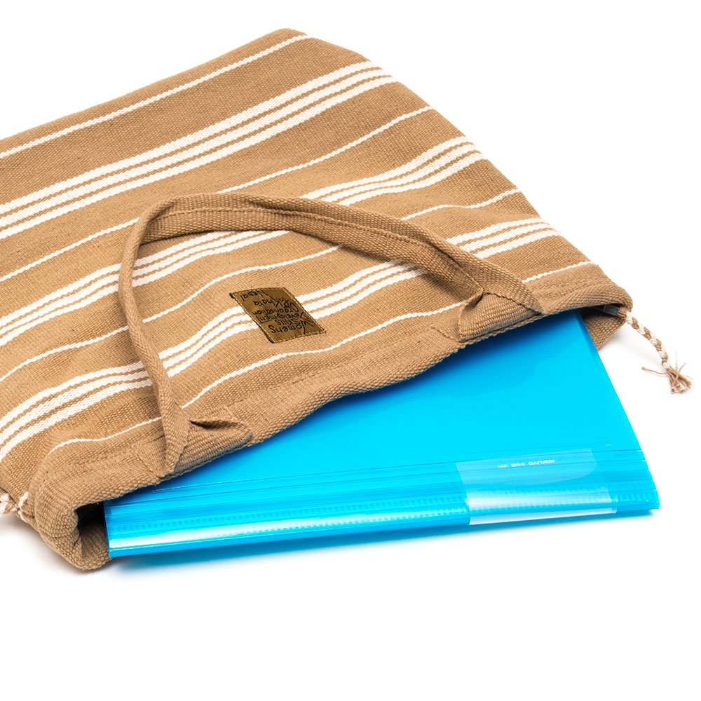画像3:<フェアトレード>WSDO 手織布の草木染めトートバッグ(ブラウン)