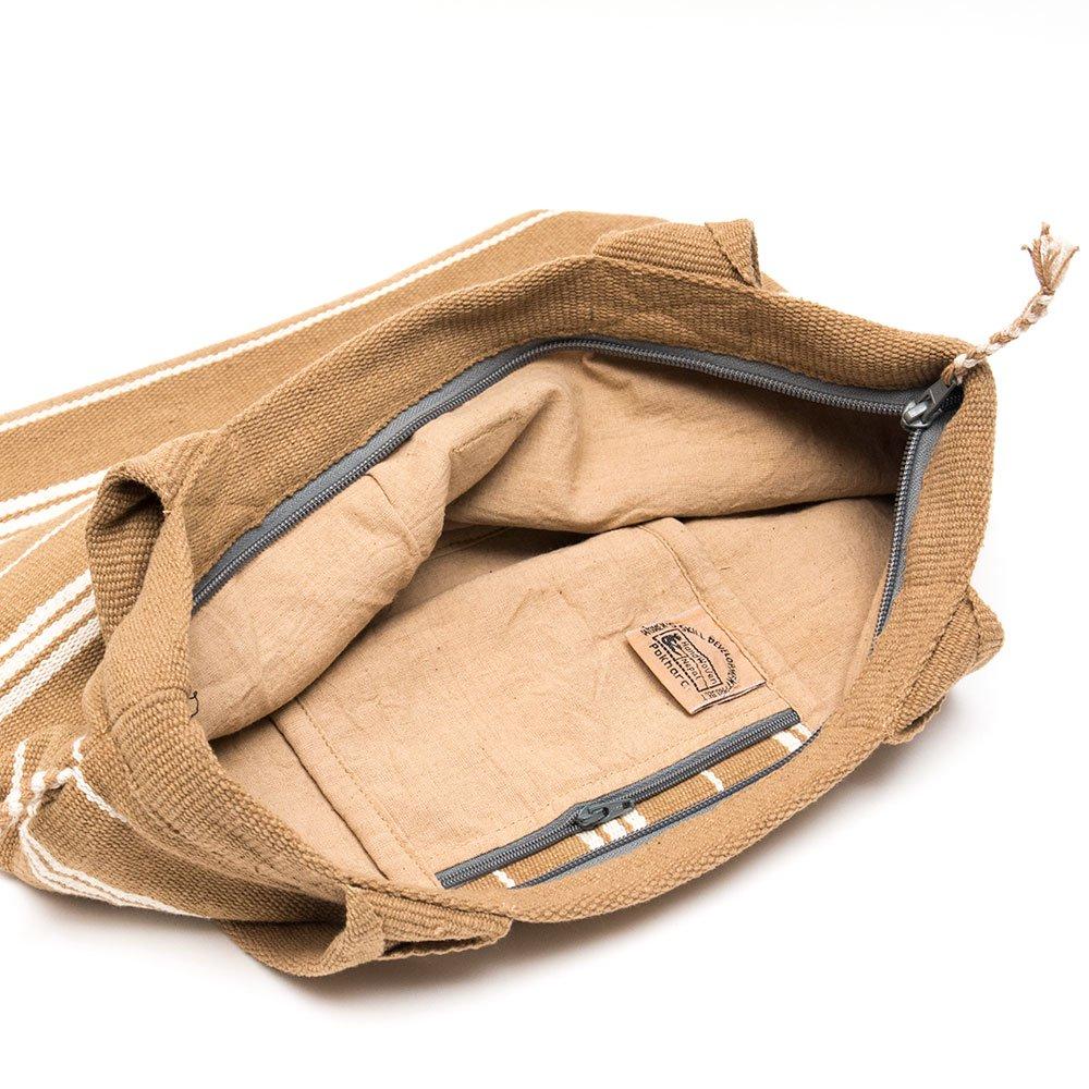 画像4:<フェアトレード>WSDO 手織布の草木染めトートバッグ(ブラウン)