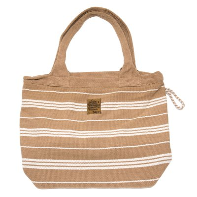 <フェアトレード>WSDO 手織布の草木染めトートバッグ(ブラウン)