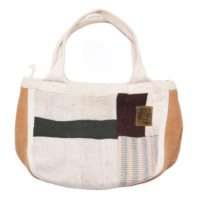 <フェアトレード>WSDO 自然派手織ヘンプトートバッグ(グレー)