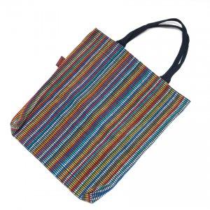 <フェアトレード>WSDO 手織布のカラフルトートバッグ