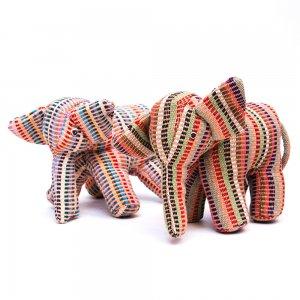 <フェアトレード>WSDO ゾウさんの手縫いぬいぐるみ