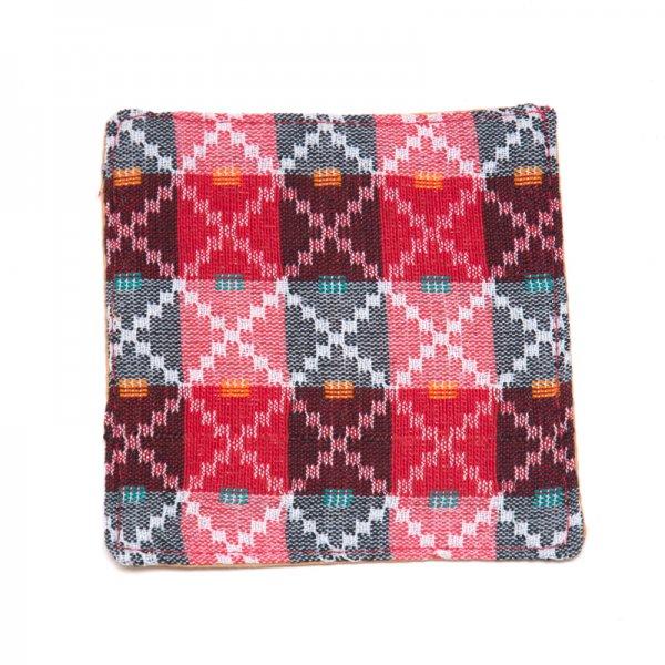 ネパール伝統のダッカ織りコースター Type.1