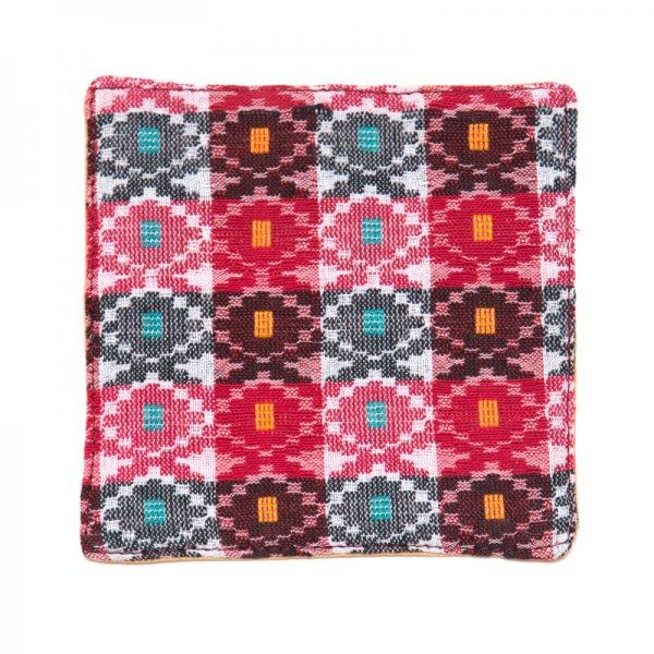 ネパール伝統のダッカ織りコースター Type.2