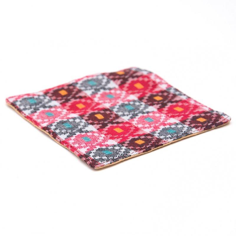 画像2:ネパール伝統のダッカ織りコースター Type.2