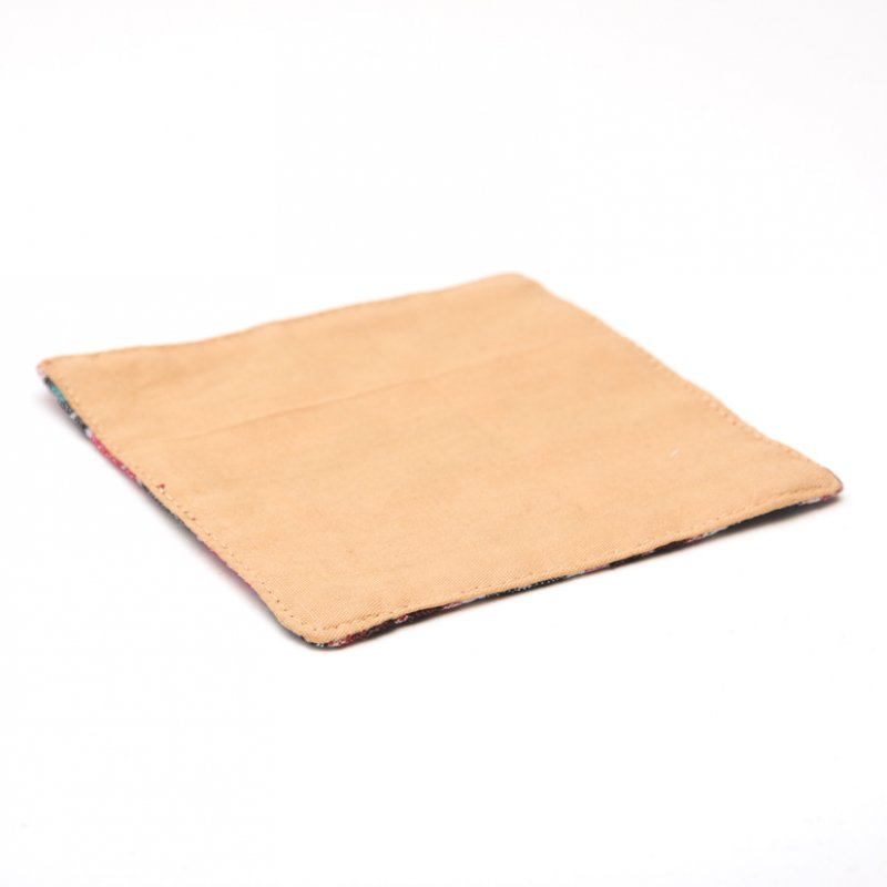 画像3:ネパール伝統のダッカ織りコースター Type.2