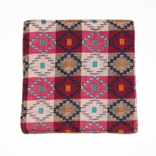 ネパール伝統のダッカ織りコースター Type.3
