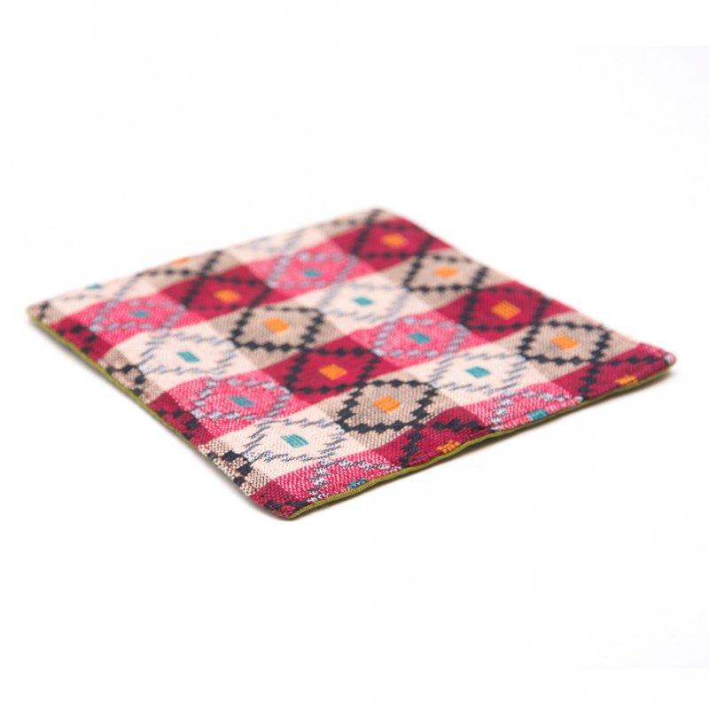 画像2:ネパール伝統のダッカ織りコースター Type.3