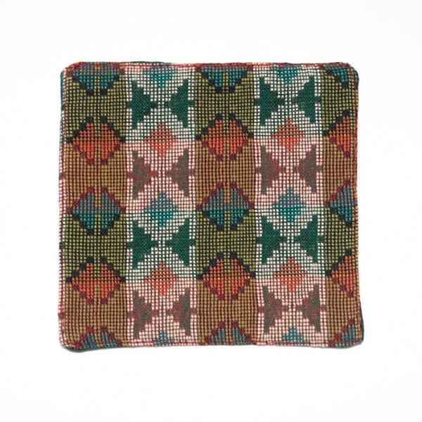 ネパール伝統のダッカ織りコースター Type.4