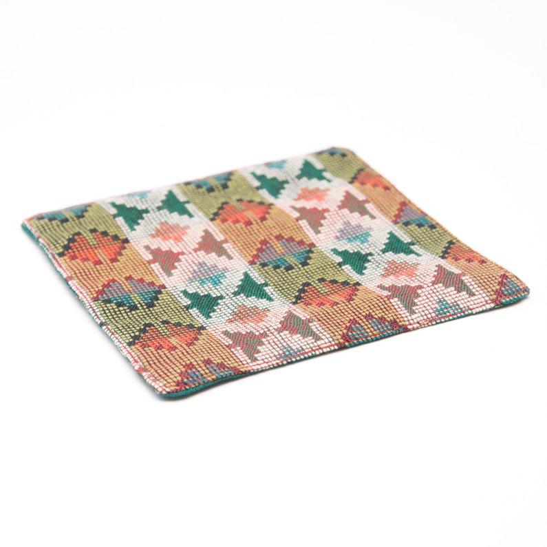 画像2:ネパール伝統のダッカ織りコースター Type.4