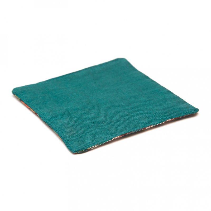 画像3:ネパール伝統のダッカ織りコースター Type.4
