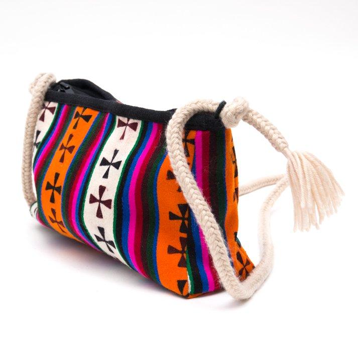 画像2:DYH チベタンバティックと手編み紐のショルダーバッグ