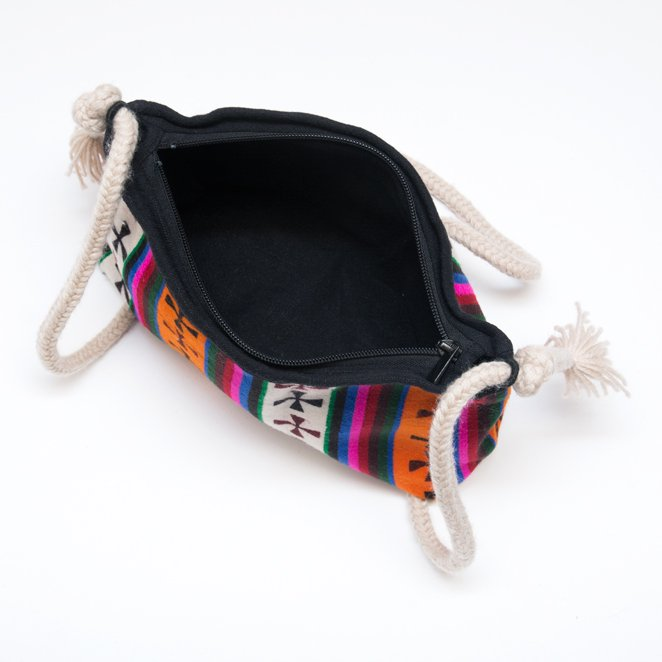 画像3:DYH チベタンバティックと手編み紐のショルダーバッグ