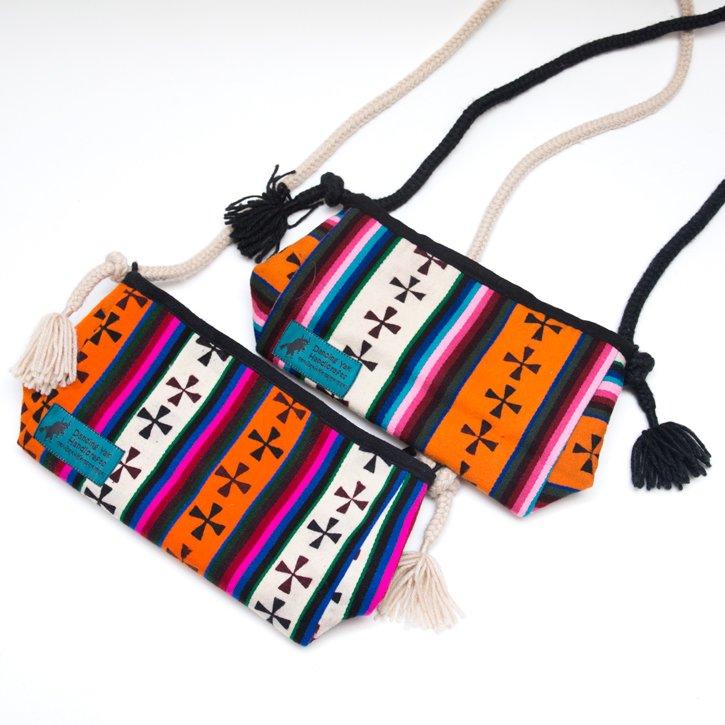 画像4:DYH チベタンバティックと手編み紐のショルダーバッグ