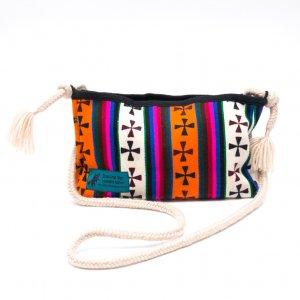 DYH チベタンバティックと手編み紐のショルダーバッグ
