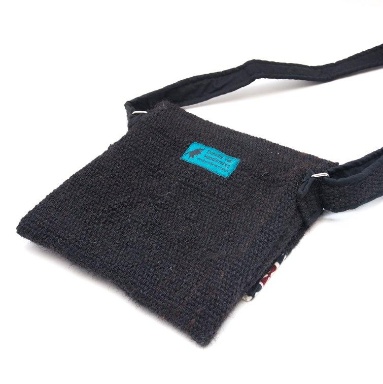 DYH ヤク(YAK)ウールのチベタンバティックショルダーバッグ (S size)