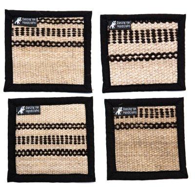 DYH ヤク(YAK)ウールの手編みナチュラルコースター