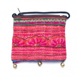 ThongPua モン族ヴィンテージ刺繍のネックポーチ Type.14
