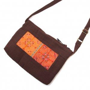 ThongPua 山岳民族モン族刺繍古布のショルダーポシェット Type.2