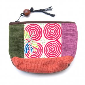 ThongPua モン族アンティーク刺繍の小物ポーチ Type.6