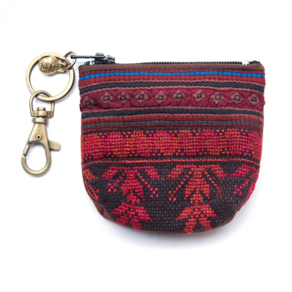 ThongPua モン族のヴィンテージ刺繍キーポーチ Type.5