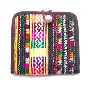 ThongPua ベトナムモン族刺繍古布の二つ折り財布 Type.2(一点もの)