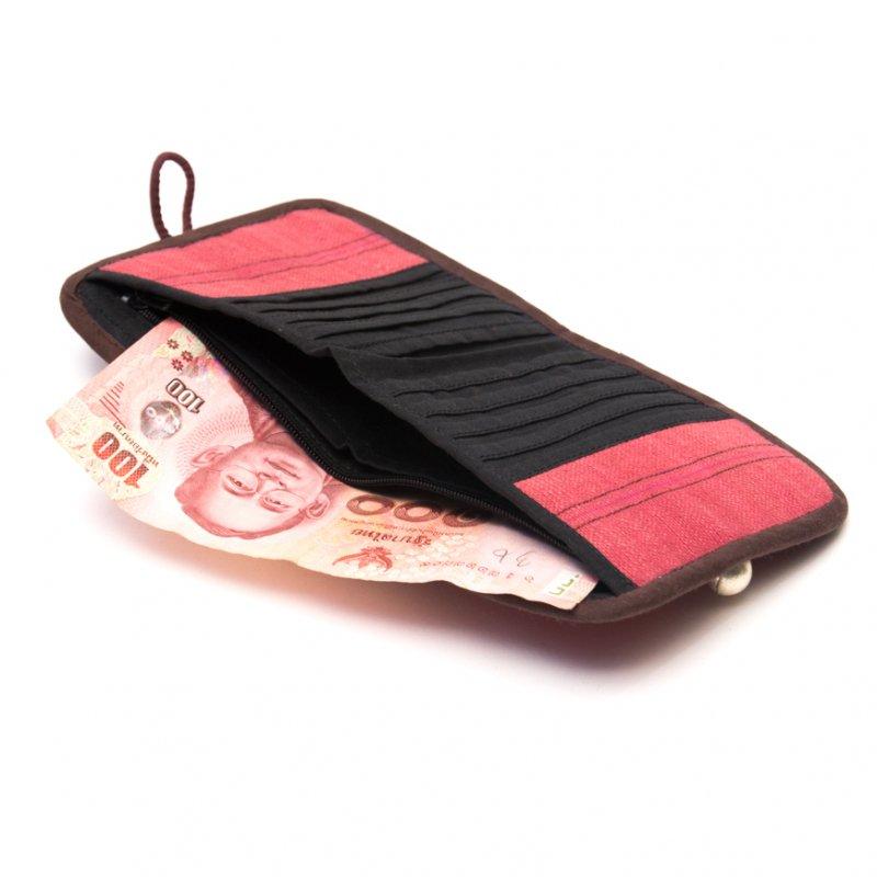 ThongPua モン族ヴィンテージ刺繍の二つ折り財布 Type.1(一点もの)